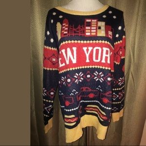 Tipsy Elves New York Sweater L Christmas Ugly